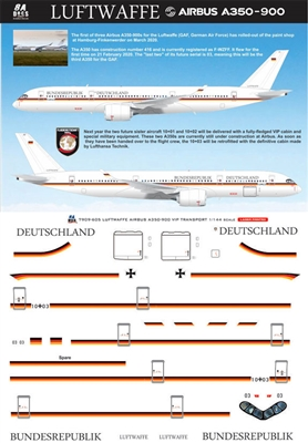 1:144 German Republic (VIP) Airbus A.350-900