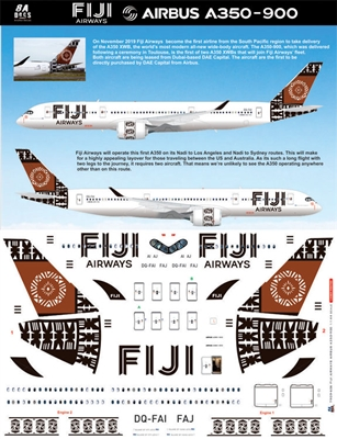 1:144 Fiji Airways Airbus A.350-900