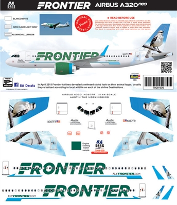 1:144 Frontier Airbus A.320NEO 'Austin the Mockingbird'