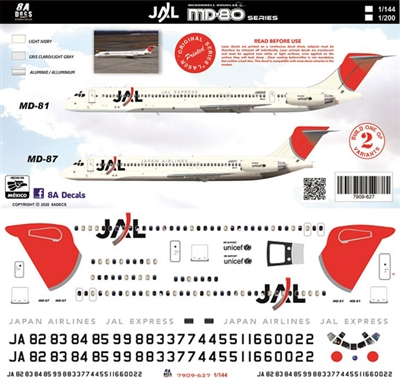 1:144 Japan Airlines McDD MD80 / MD87