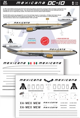1:144 Mexicana McDD DC-10-15