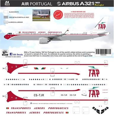 1:144 TAP Portugal 'retro cs' Airbus A.321NEO