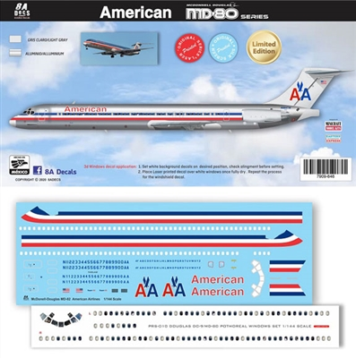 1:144 American Airlines McDD MD81 / 82 / 83