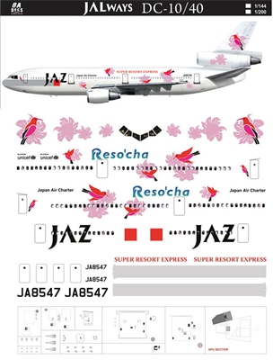 1:144 JAZ Japan Air Charter 'Reso'cha' McDD DC-10-40