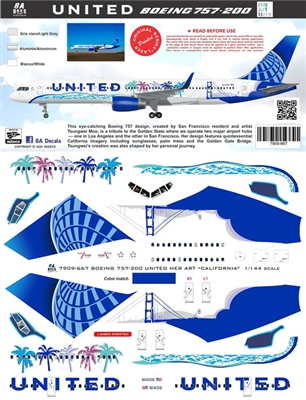 1:144 United Airlines 'California' Boeing 757-200 (Minicraft)
