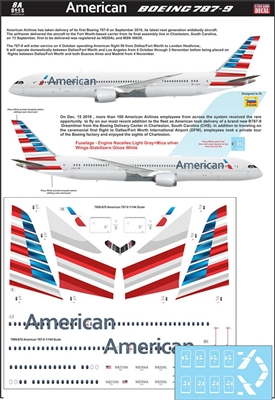 1:144 American Airlines (2015 cs) Boeing 787-9