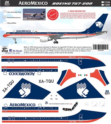 1:144 AeroMexico Boeing 757-200 (Authentic Airliners)