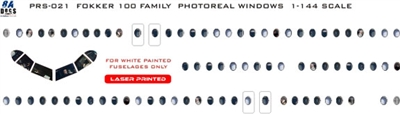1:144 Fokker 100 family Photoreal Windows