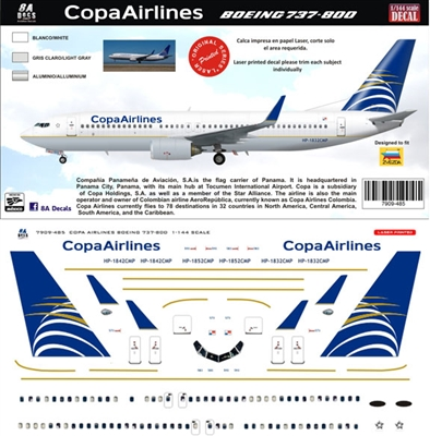 1:200 COPA Airlines Boeing 737-800