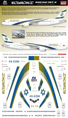 1:200 El Al 'Jerusalem of Gold' Boeing 787-9