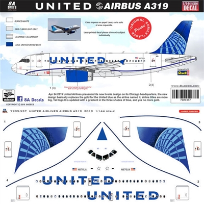 1:200 United Airlines (2019 cs) Airbus A.319