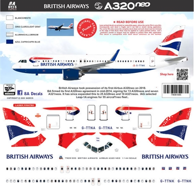1:200 British Airways Airbus A.320NEO