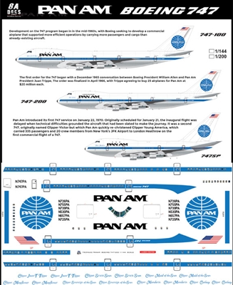 1:200 Pan Am Boeing 747-100 / -200B / SP