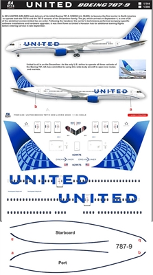 1:200 United Airlines (2019 cs) Boeing 787-9