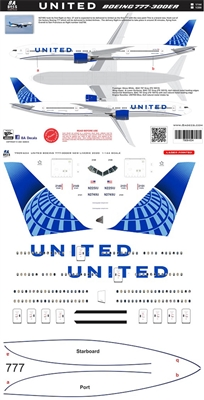 1:200 United Airlines (2019 cs) Boeing 777-300ER