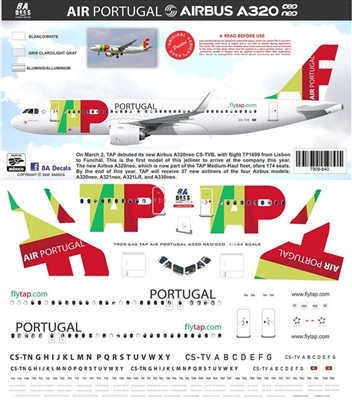 1:200 TAP Portugal Airbus A.320 (CEO & NEO)