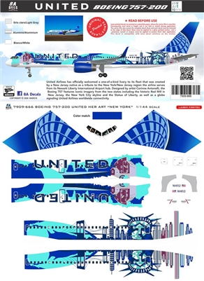 1:200 United Airlines 'New York' Boeing 757-200