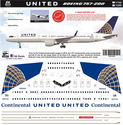 1:200 United Airlines Boeing 757-200