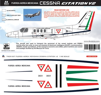 1:48 Fuerza Aerea Mexicana Cessna 500 Citation 1 (Surveilance)