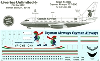 1:144 Cayman Airways Boeing 737-200