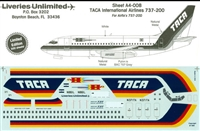 1:144 TACA International Airlines Boeing 737-200