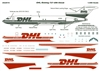 1:200 DHL (cream & burgundy) Boeing 727