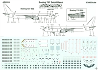 1:200 Windows & Details, Boeing 737's