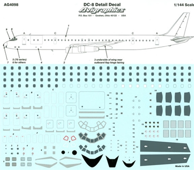 1:144 Windows & Details, Douglas DC-8