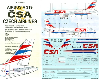 1:144 CSA Czech Airlines Airbus A.319
