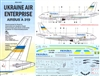 1:144 Ukaraine Air Enterprises Airbus A.319