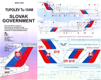 1:144 Slovak Government Tupolev 154M