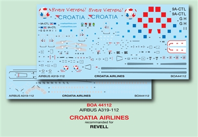 1:144 Croatia Airlines Airbus A.319
