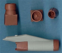 1:144 Ilyushin 76 Engine Intakes & Closed Reversers (4) - See BZ4029