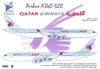 1:144 Airbus A.340-500 Conversion Set, Qatar Airways