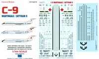 1:144 Douglas C-9A Nightingale & C-9B Skytrain - U.S. Navy, U.S. Air Force