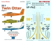 1:72 1:72 DHC-6 Twin Otters - British Antarctic Survey, USAF Academy Skydive team, Canada Coast Guard