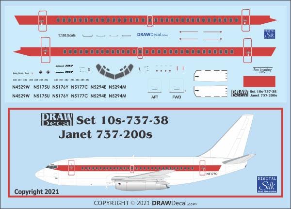 1:100 Janet Boeing 737-200 'Alien Airways'