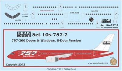 1:100 Boeing 757 Doors  and Windows (8 door version)