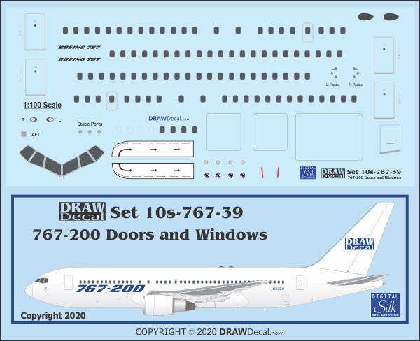 sc 1 st  AHS Store Home Page & 1:100 Windows u0026 Doors Boeing 767-200 pezcame.com