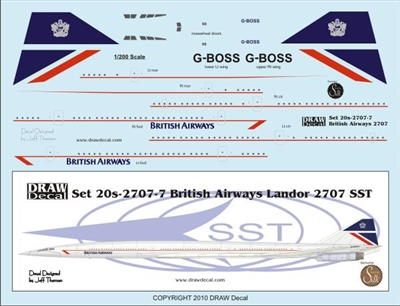 1:200 British Airways 'Landor' Boeing 2707 SST