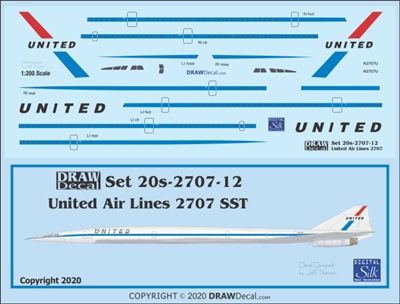 1:200 United Airlines Boeing 2707 SST