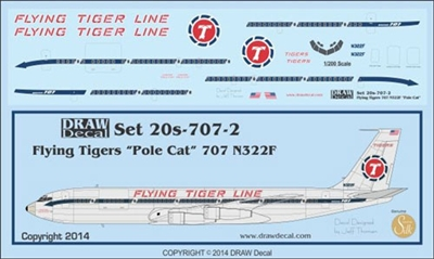 1:200 Flying Tigers 'Pole Cat' Boeing 707-320C