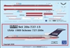 1:200 US Airways Boeing 727-200