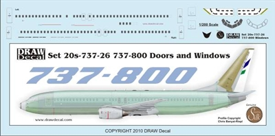 1:200 Boeing 737-800 Doors and Windows