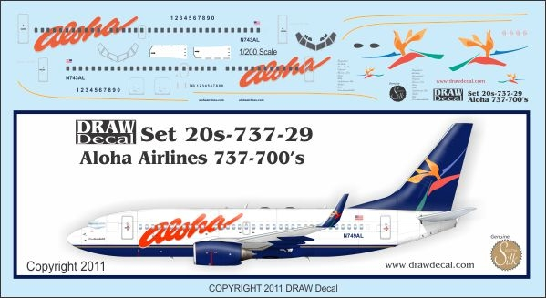1:200 Aloha Boeing 737-700