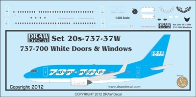 1:200 Boeing 737-700 Doors and Windows - WHITE