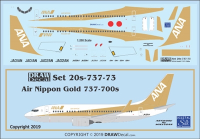 1:200 Air Nippon (Gold cs) Boeing 737-700(W)