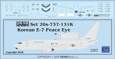 1:200 Korean Air Force Boeing E-7 'Peace Eye'