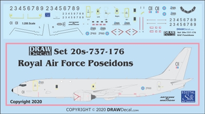 1:200 Royal Air Force Boeing P-8A Poseidon MRA1