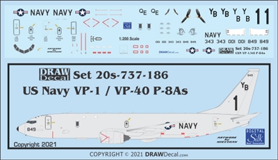 1:200 US Navy Boeing P-8A Poseidon VP-1 Screaming Eagles, VP-40 Fighting Marlins